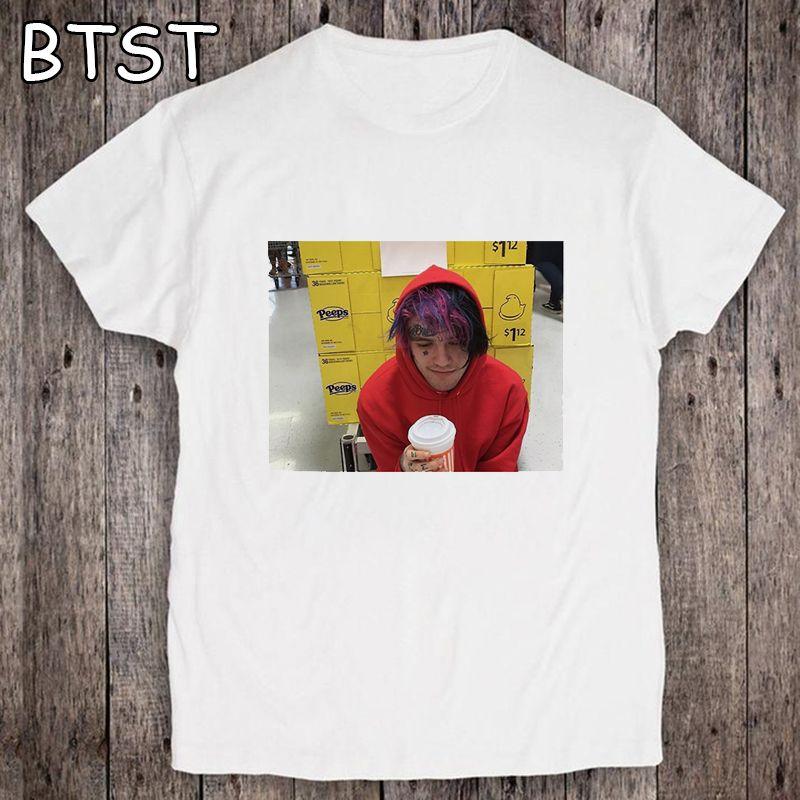 90s Graphic Lil Peep-T-Shirt Harajuku Hip Hop-T-Shirts Männer Ullzang Mode-T-Shirt Hölle Boy Street Top Tees männlich
