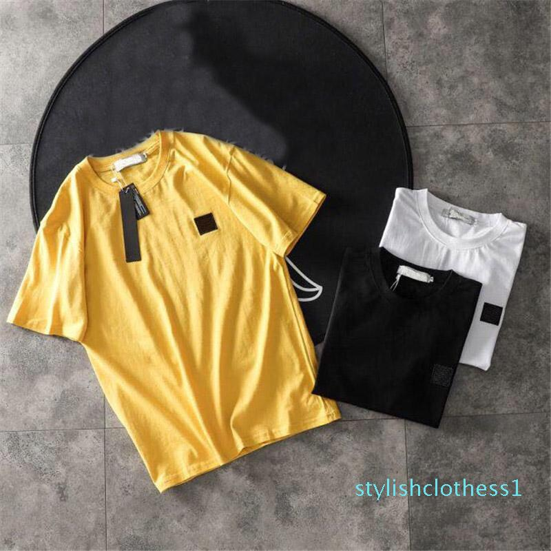 Hombre del diseñador camisetas verano de los hombres y mujeres de manga corta Top Tees insignia camisas para hombre tamaño de la ropa M-2XL alto Quanlity s01 s01