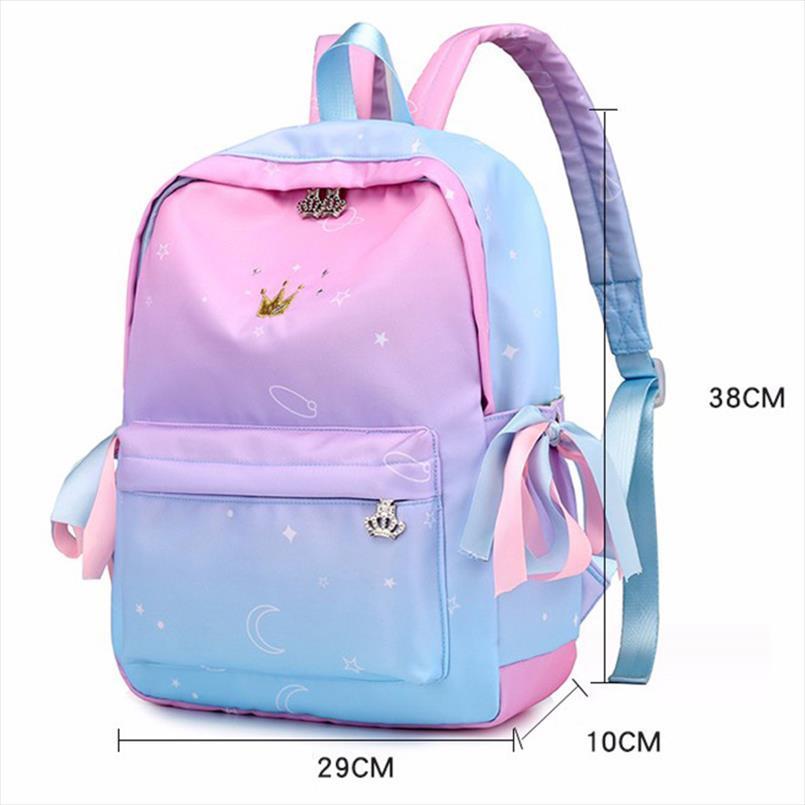 2020 Scuola caldo zaino nuovo ragazze della scuola sacchetti di rosa Zaini bambini Libro sacchetto di stampa Leggero Zaino femminili Sac un DO