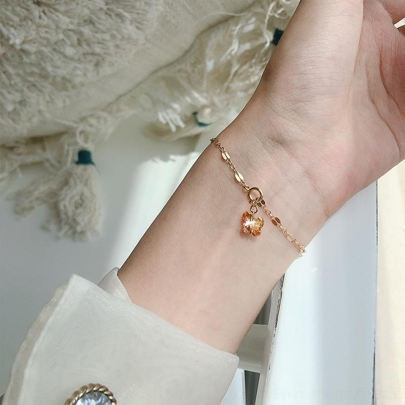 Kette * Juntian 925 Kristall Shijia weibliche Schmetterling Armband Schmetterling Schmuck Armband Silber Temperament glänzenden Allgleiches Lippe eafbD je JbII3