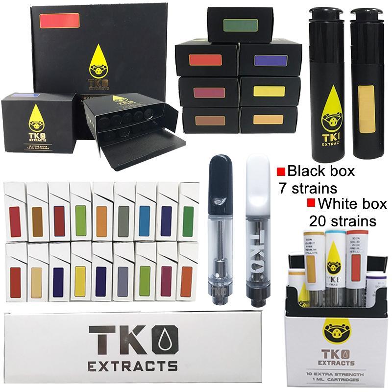 TKO Extrakte Cartridges 0,8 ml 1,0 ml Black Tip Keramik Coil dickes Öl Dab Pen Wachs Vaporizer leeren Vape Patronen Zerstäuber 510 Gewinde