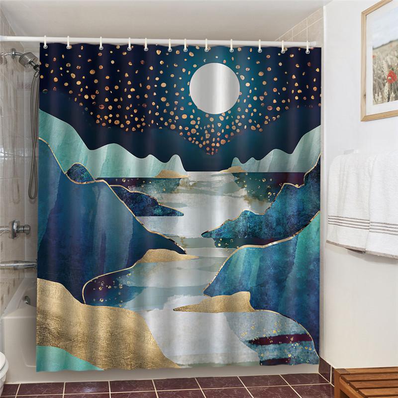 Shower Curtain With12 Hooks Beautiful Fantasy Night Sky Waterproof Bathroom Home Garden Rateshop Bath