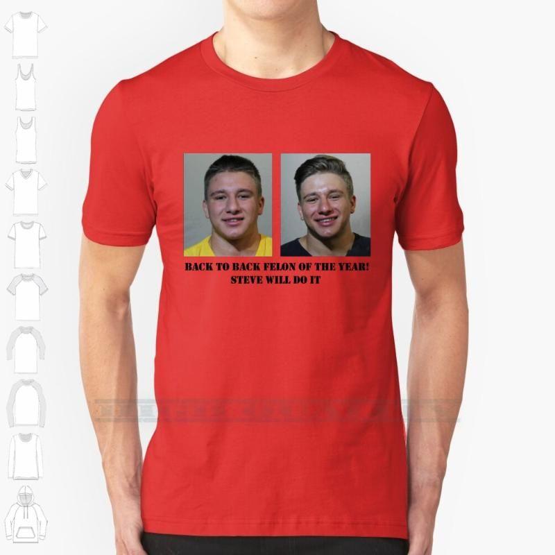 스티브는 남성용 여성용 디자인 디자인 인쇄를 할 것입니다. 여성용 면화 티셔츠 큰 크기 6xl Nelk Nelk Boys Boysed 체포