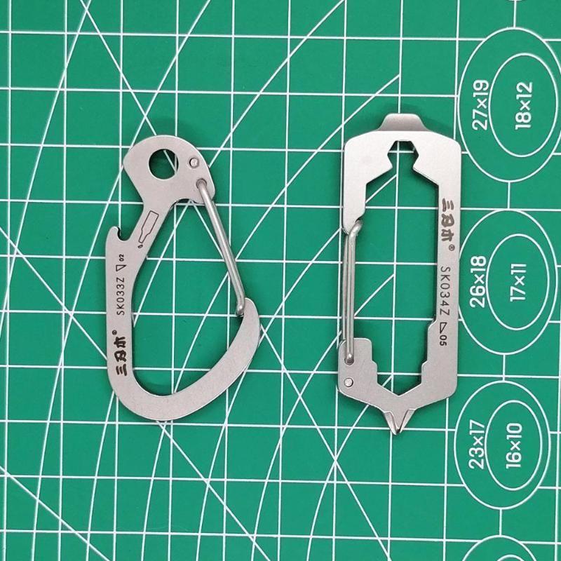 Sanrenmu SK033Z SK034Z Taschen-Multi-Tool im Freienwerkzeug Travel Kit KeyChain mit Spanner Flaschenöffner Schraubendreher