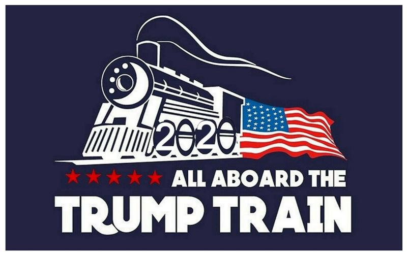 Trump Train Wall Stickers Donald Window Sticker US Election Home Decor Free Shipping FWC1076