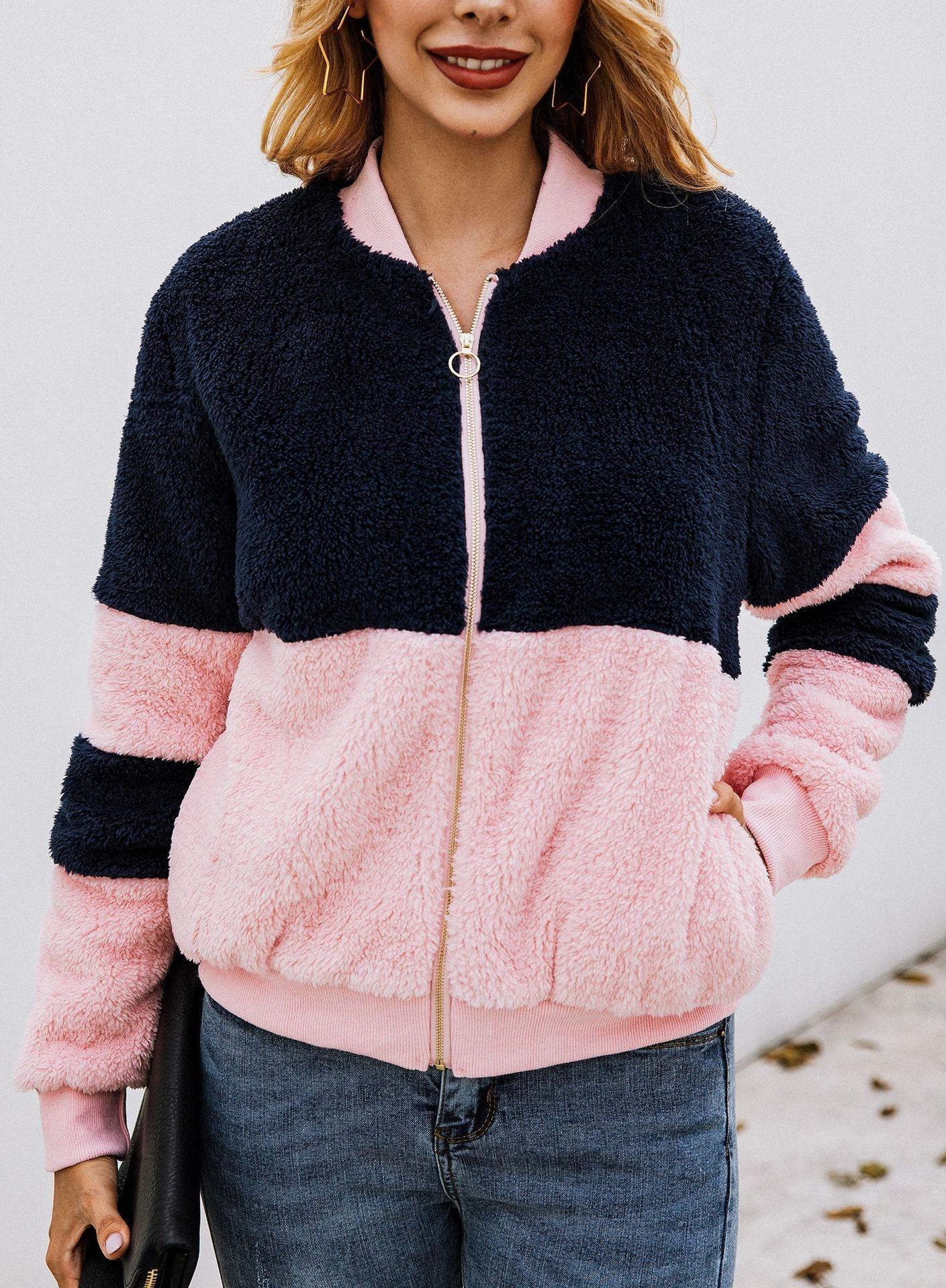 YHGHt 2020 осень топ Top свитер зимней моды шить карман на молнии женщин и плюшевых свитер 900049
