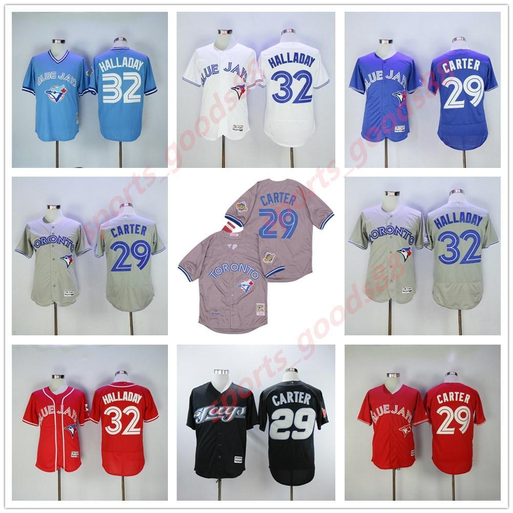 Bo Bichette Toronto Baseball 29 Joe Carter Jersey 32 Roy Halladay Flexbase Todos os homens costurados Mulheres Kids Youth