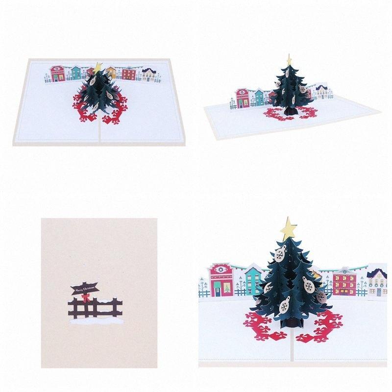 3D Popup cartes en ligne d'arbre de Noël Carte de voeux en ligne festival Carte de Noël PCUH #