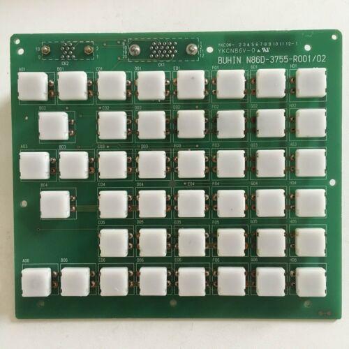1PCS utiliza tablero de botón de la llave N86D-3755-R001 Fanuc Bueno probada