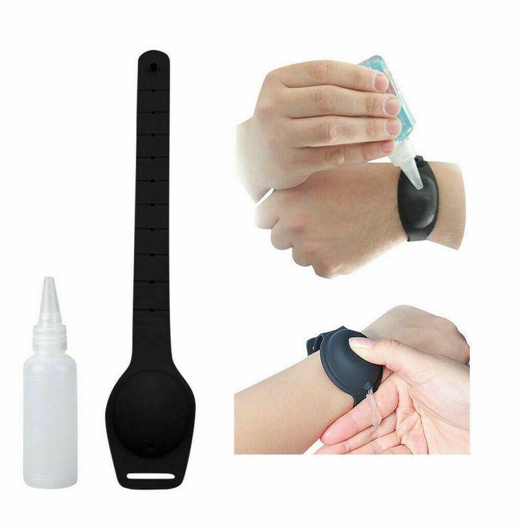 2020 Silicone Sanitizer Bracelet for Hand Washing Silicone Sanitizer Wristband Dispenser Custom Logo