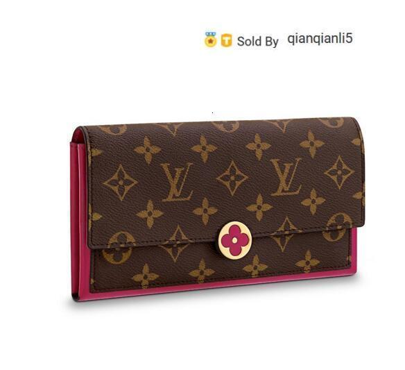qianqianli5 98O9 FLORE WALLET M64585 NEW WOMEN FASHION SHOWS EXOTIC LEATHER BAGS ICONIC BAGS CLUTCHES EVENING CHAIN WALLETS PURSE