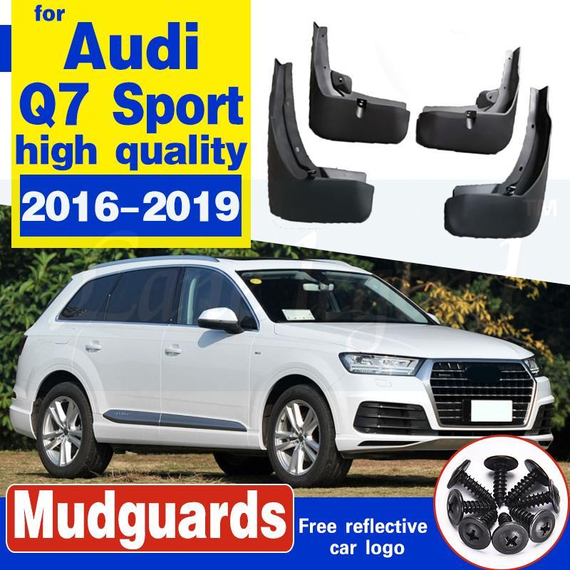 Pour Audi Q7 S-Line Sport 2016-2019 voiture boue Rabats bavettes garde-boue BOUE Garde-boue garde-boue avant Accessoires de roue arrière