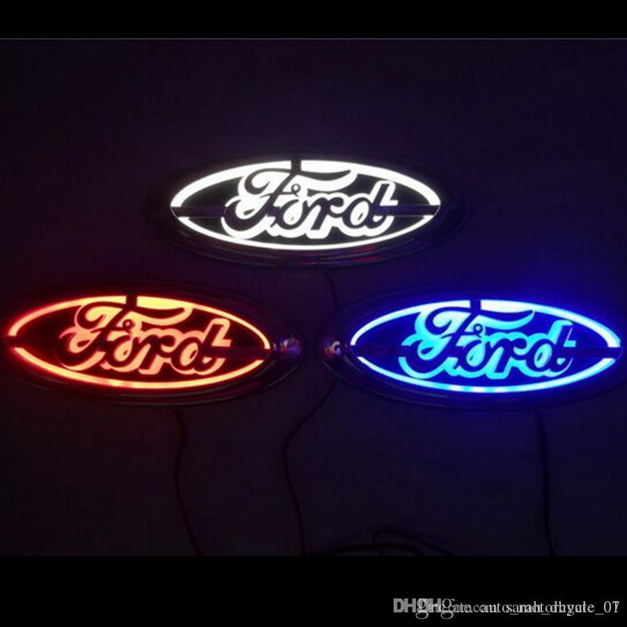 شعار 5D السيارات شارة مصباح LED السيارات الذيل ضوء لفورد مونديو التركيز كوجا السيارات شارة ضوء 14.5CM * 5.6CM GGA1739