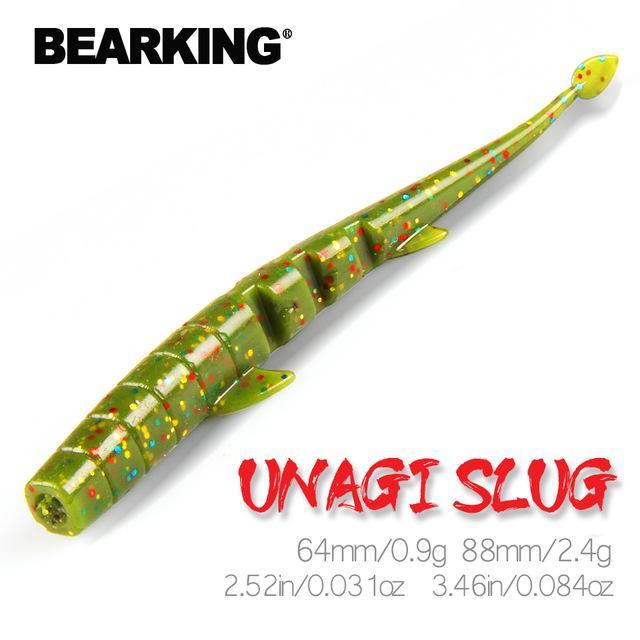 Häfen Unterhaltung BEARKING UNAGI Slug Weiche-Köder 64mm 88mm Angeln Kunstköder Silikon Bass Pike Elritze Swimbait Jigging Plast ...