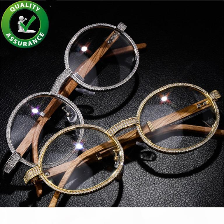 Luxury Designer Sunglasses fuori ghiacciato Diamante Occhiali di Hip Hop di gioielli da uomo Rapper Moda Donne fascini epoca del partito degli accessori regalo di Natale