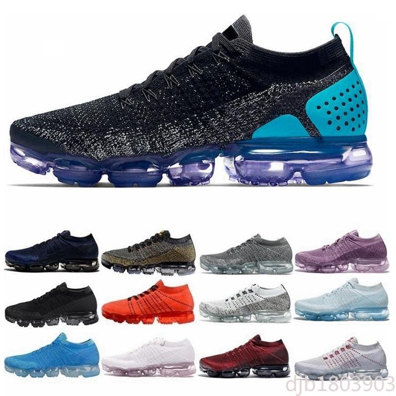nike air Vapormax max Flyknit Utility couleur Noir multi chaussures de course des femmes des hommes CNY Designers bleu coureur Safari minuit violet formateurs ultramarines dj