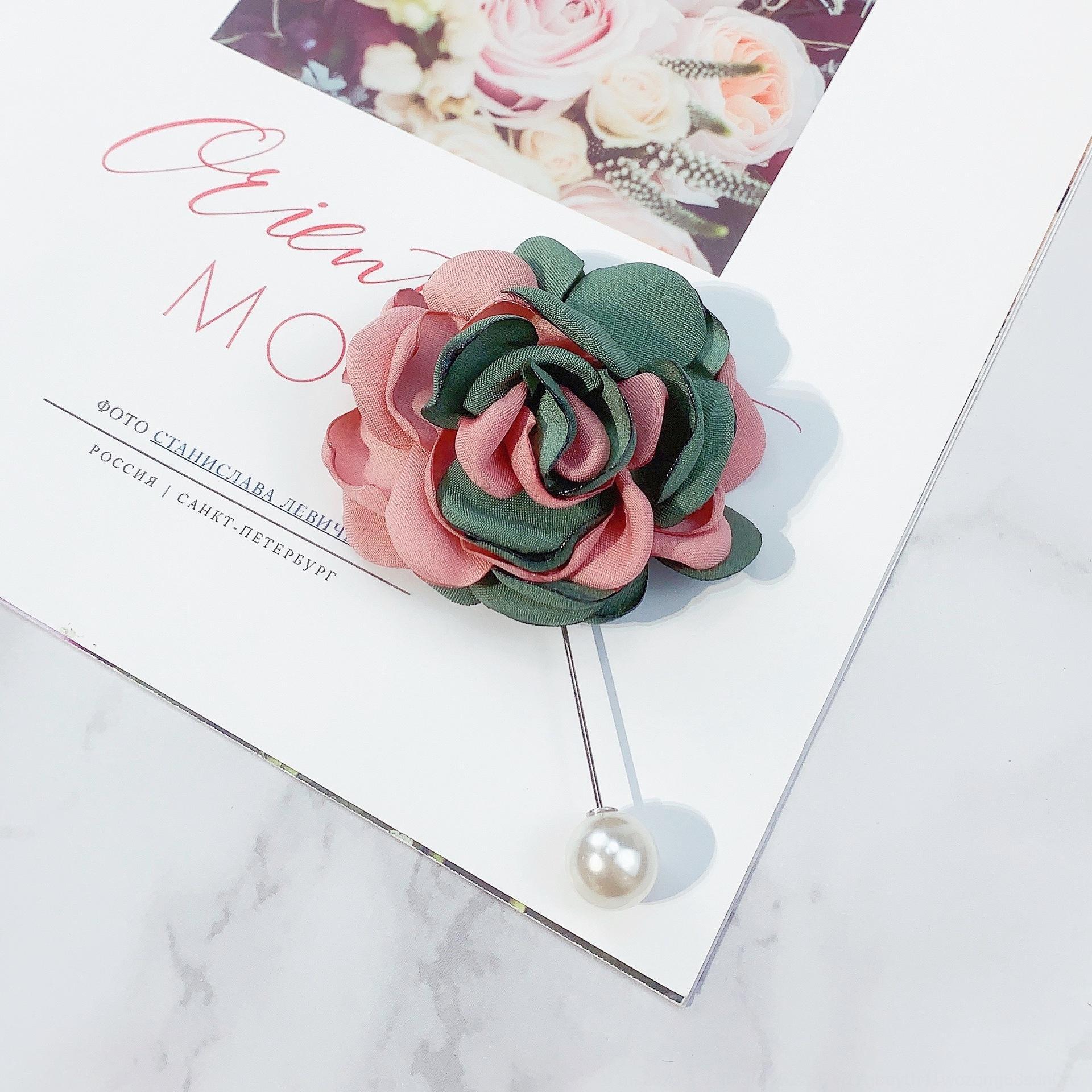 la correspondance des couleurs tissu rose perle Broche corsage Broche collier Accessoires Accessoires Pin vêtements XIZRg