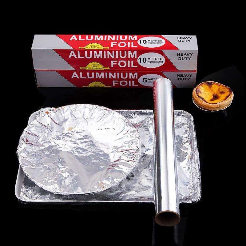 Barbecue all'ingrosso di cottura foglio Tin Foil carta da forno grill barbecue Argento Food Pack Tin Foil rotolo di carta di alluminio barbecue Papers DH1202 T03