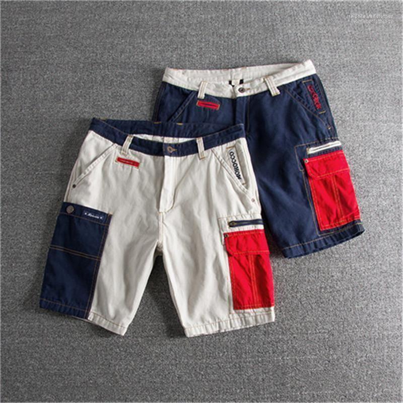 Designer Vestuário Shorts 100% algodão Relaxado Calça Casual Masculino da roupa de forma solta Zipper Vestuário Mens Verão