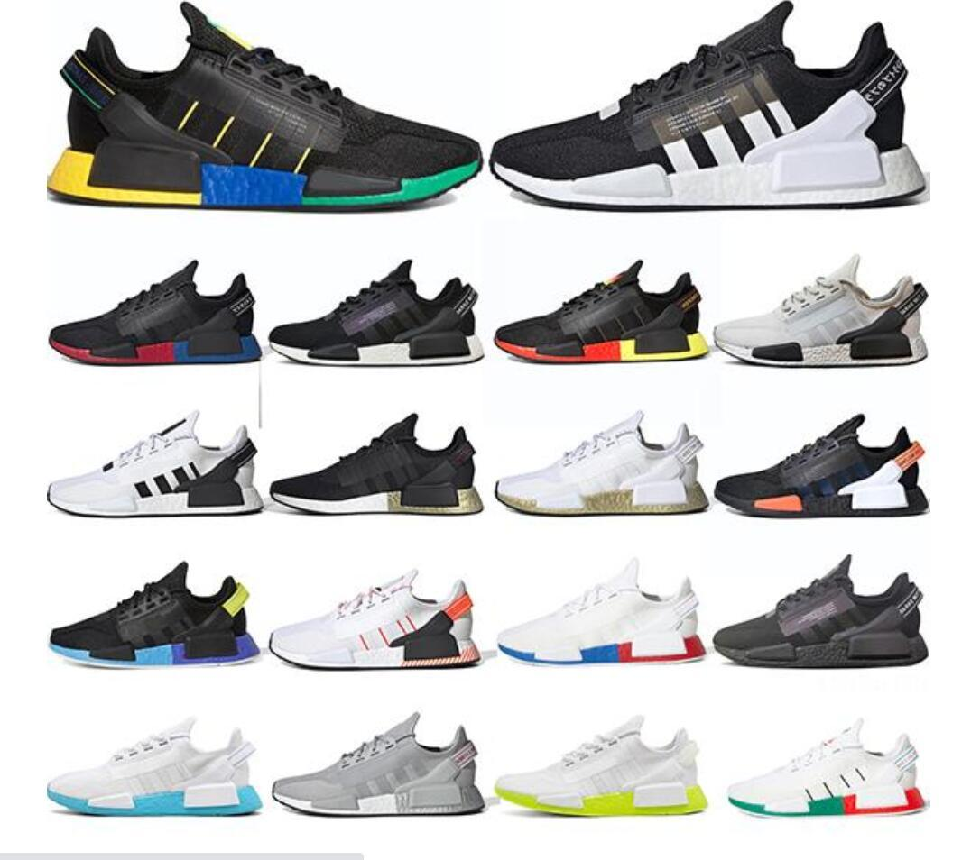 Men Women NMD R1 V2 Running Shoes Sneakers Core Black White Mexico City Oreo OG Classic Metallic Gold Trainers Sports Size 36-45