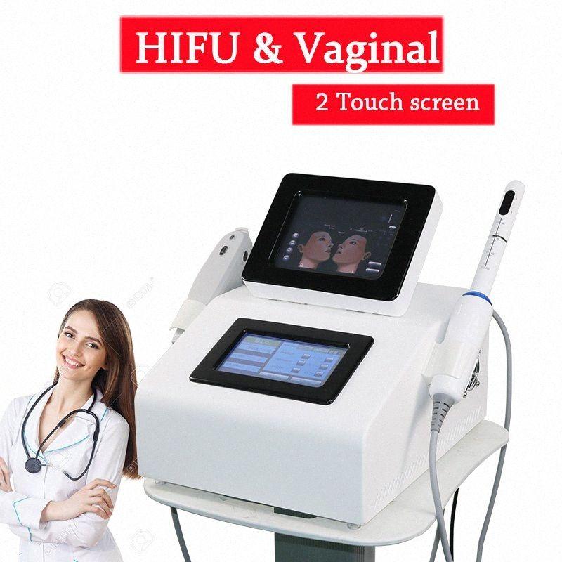 2019 Hifu машина HIFU Вагинальный Ужесточение машины 2 экрана могут работать вместе HIFU фейслифтинг тела для похудения Вагинальный машина DHL CE 1cs6 #