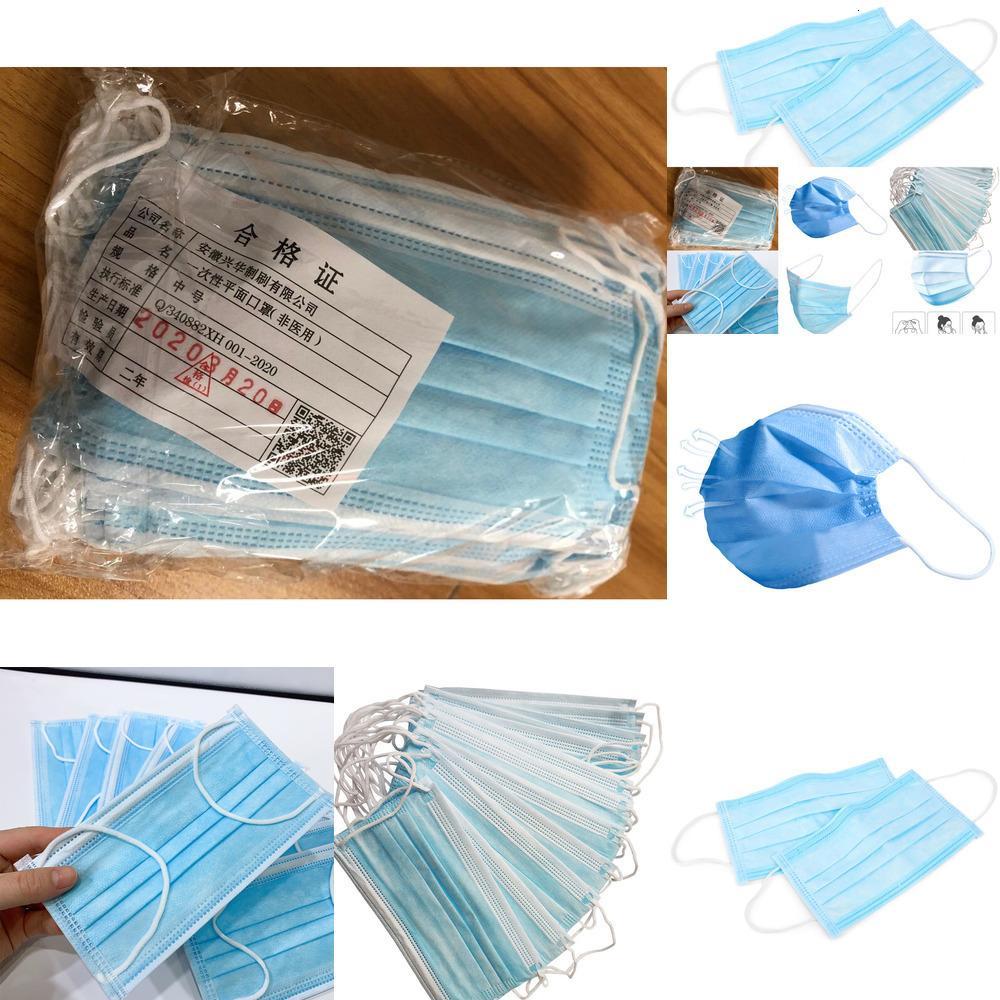 Strato monouso Ear-loop polvere 3 Mask Protect Maschere Salute Bocca copertura 3 strati non tessuto Dis Ao57