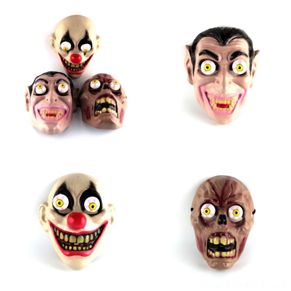 vEqfV loup effrayant masque drôle sur diable grimace Halloween Hallowmas Parti blanc tête de vente terroriste masque masque effrayant costume brun noir animal