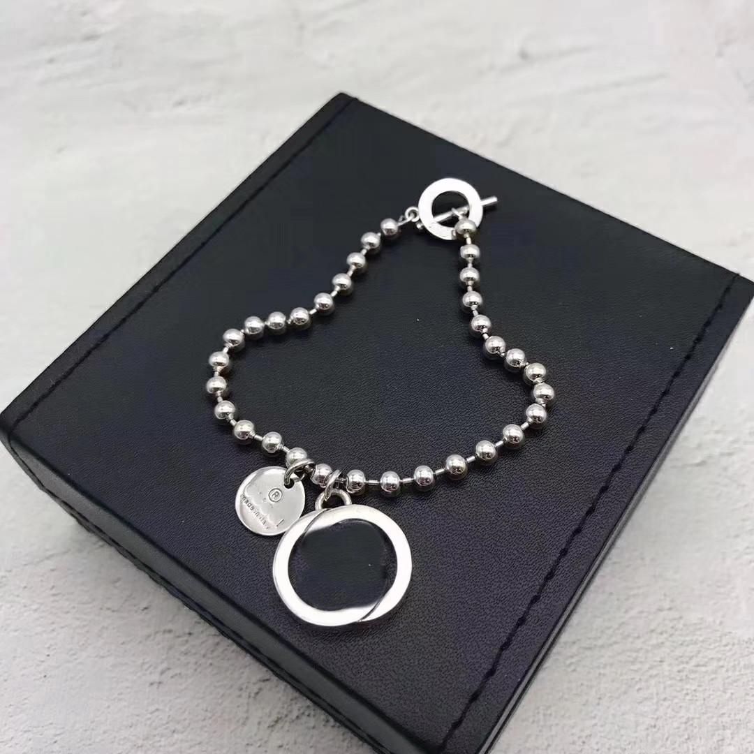 925 فضة سوار جديد بسيط الشخصية مجموعة مجوهرات قلادة عالية الجودة الفضة سحر القلائد توريد قلادة مجموعة