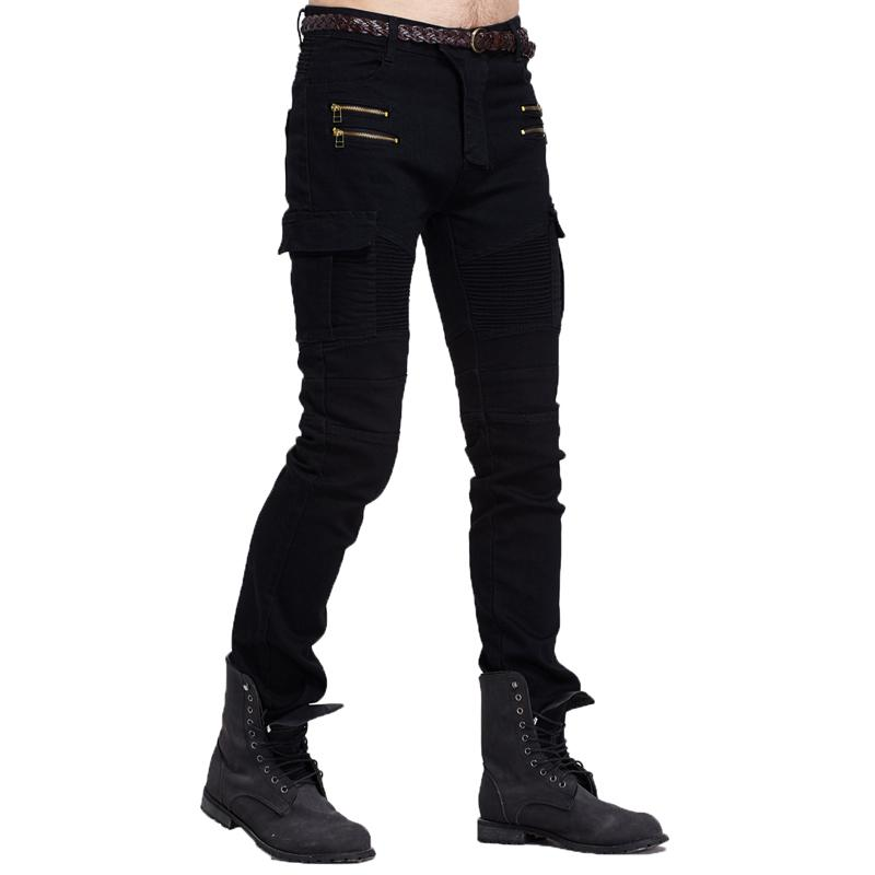 Neue Ankunfts-2020 Motorrad-Denim Biker Männer Jeans Männer dünne dünne Jeans