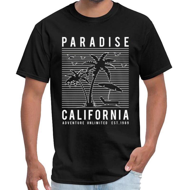 paradis mignon californie hommes t chemise blanche t-shirt cru XXXL 4XL 5XL normale