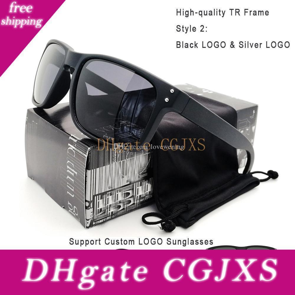Top-Qualität Art und Weise polarisierte Sonnenbrille-Mann-Schwarz Tr90 Rahmen grau Objektiv Etching Y91 -02 High-End-Gläser freies Verschiffen Großhandels Customized