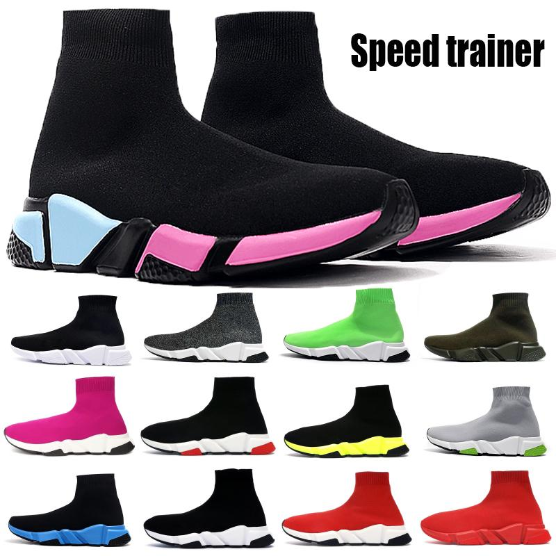 Cheap Speed Trainer Paris Socks Shoes Men Women heavy sole Platform Bottom Triple Black White university Red Fashion Boots Casual Sneakers