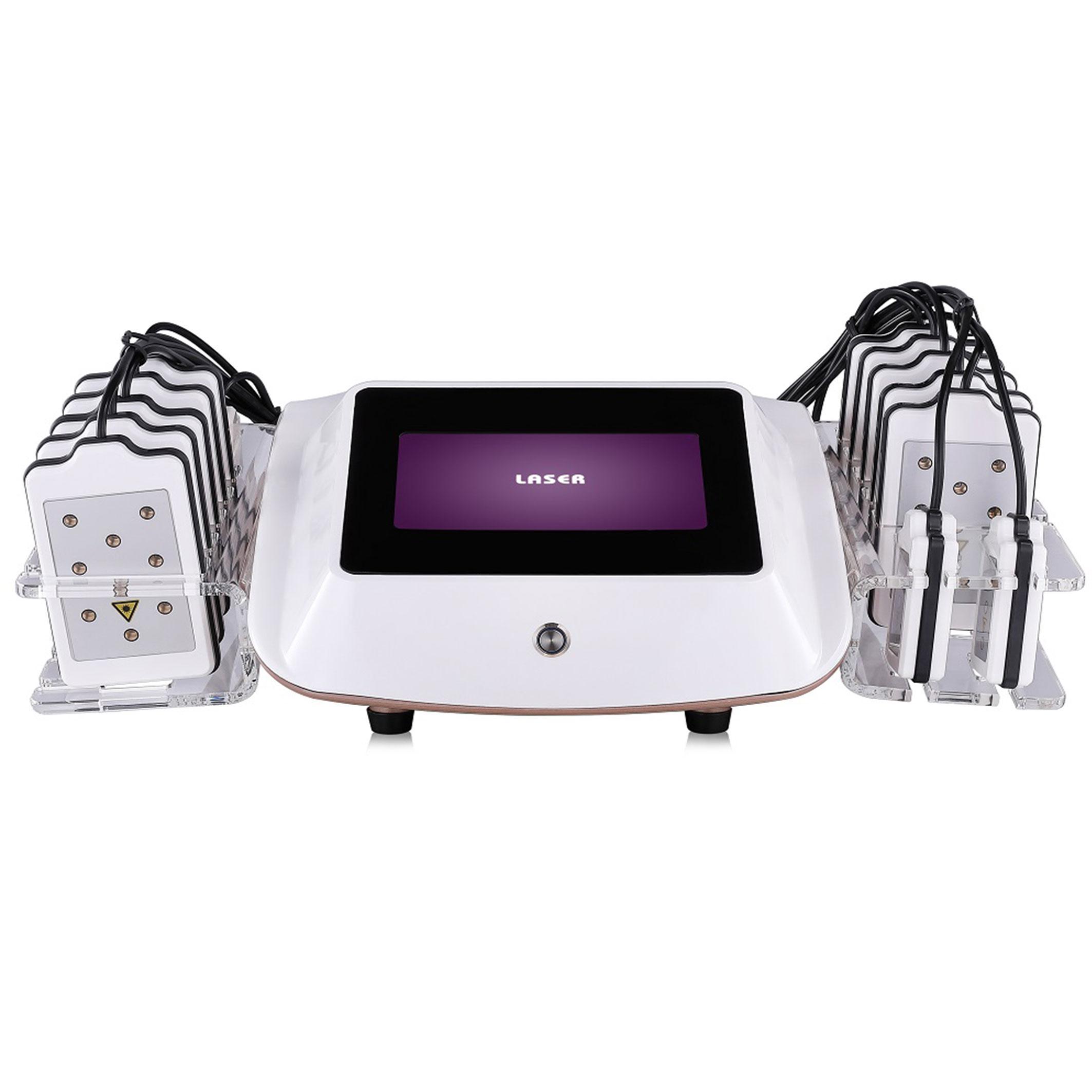 Satılık Vücut Şekillendirici Yağ Yakma Makinesi Soğutma 14 Lazer Pedler Diyot Lipo lazer zayıflama makinesi