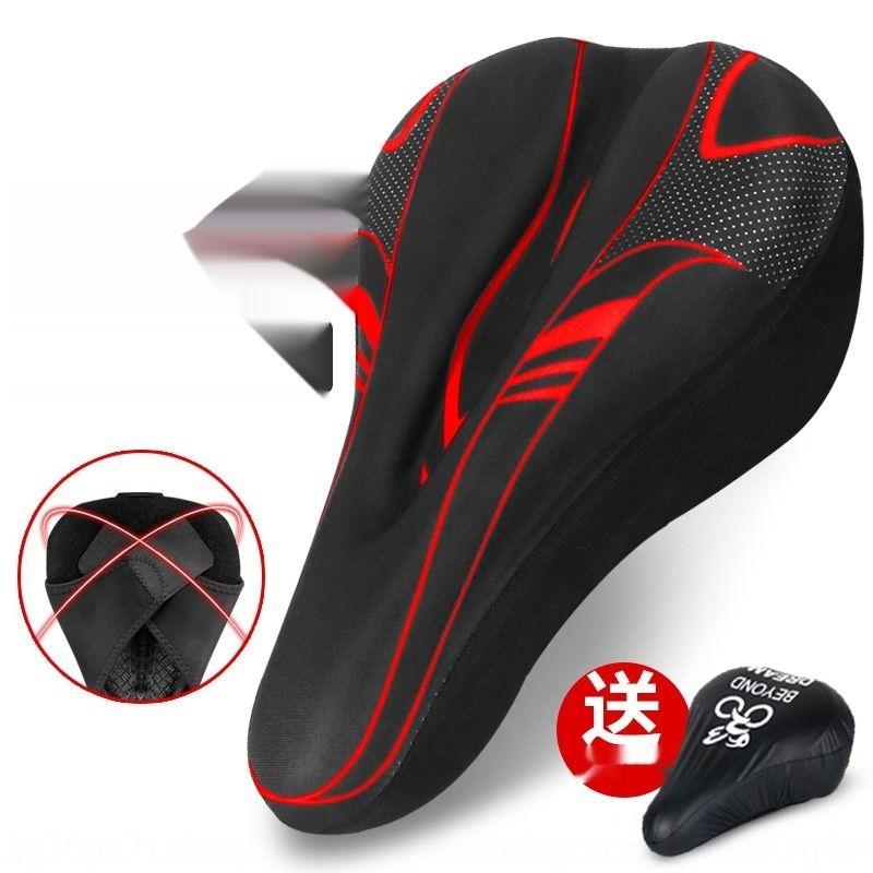 DxkCW Горный велосипед 3D крышка подушки велосипеда утолщенные силиконовые губки подушки сиденья мягкие аксессуары седло Велосипедное оборудование bicycleSilicon