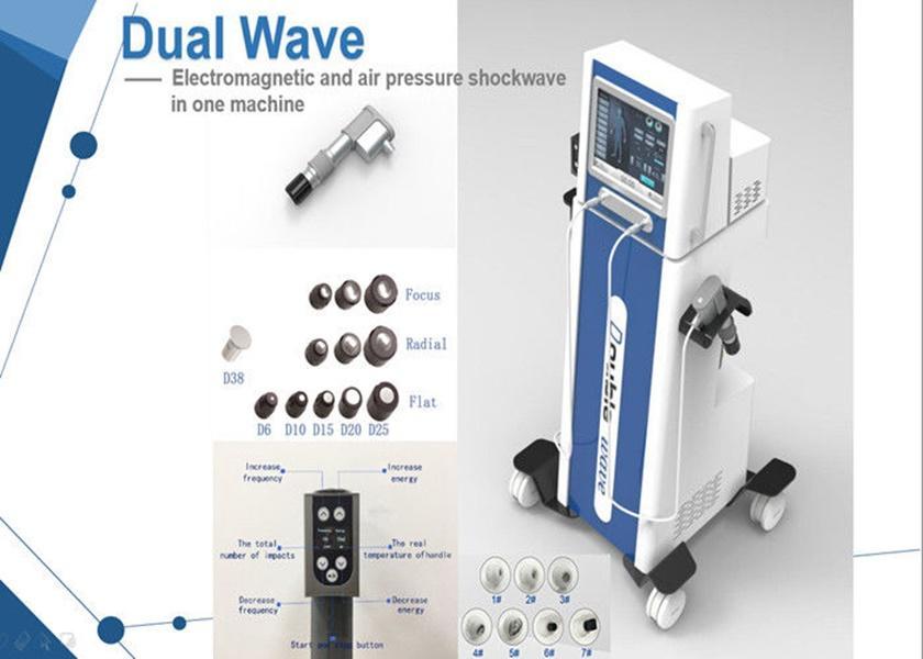 Neumática electromagnética Shockwave terapia física Máquina alivio del dolor Shockwave máquina de la terapia de reducción de celulitis alivio del dolor 200 mJ