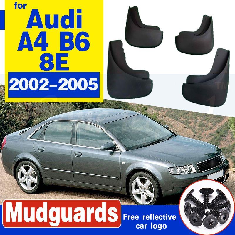 Auto-Schmutzfängern für Audi A4 B6 2002-2005 8E Mudflaps Spritzschutz Set Molded Schlamm-Klappen Kotflügel Fender Styling Zubehör
