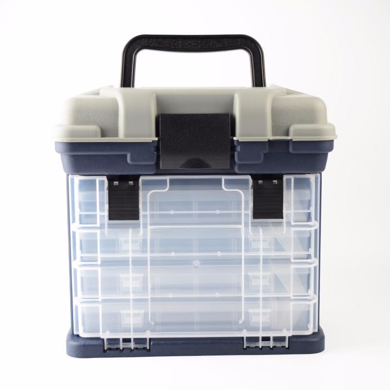 27 개 * 17 개 * 26cm 5 층 PP + ABS 큰 낚시 태클 박스 고품질 플라스틱 핸들 낚시 상자 잉어 낚시 도구 액세서리