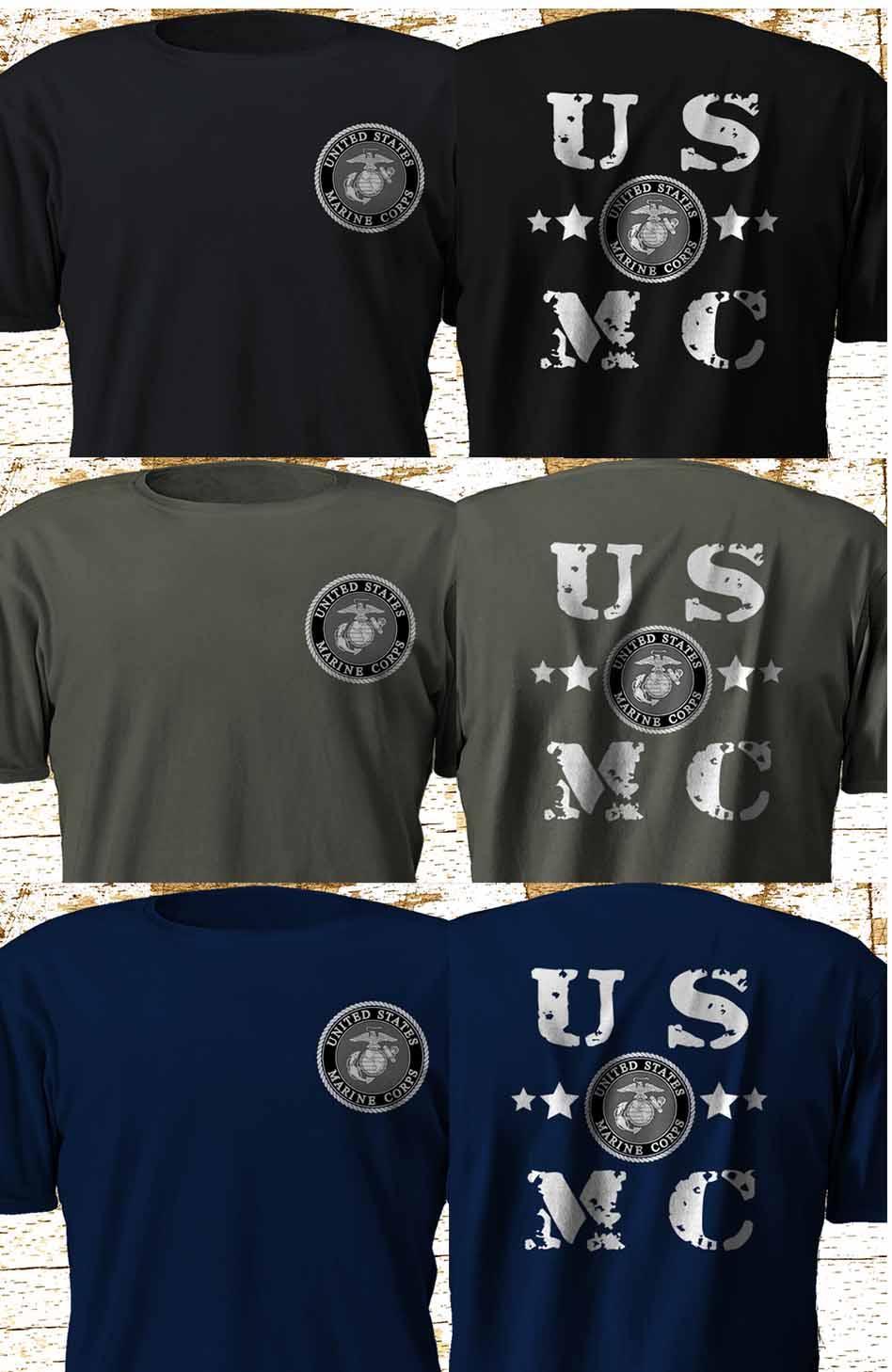 Nueva Usmc Marine Corps Swat Ejército de la policía militar multicolor verano 2019 de manga corta más el tamaño de la manga Tops Homme Camiseta
