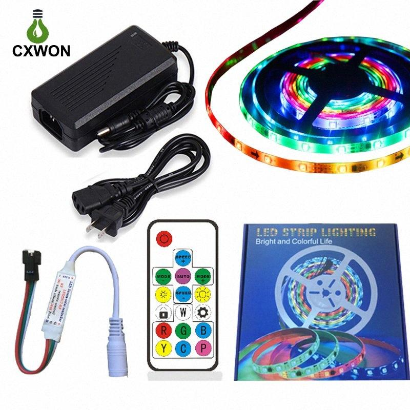 WS2811 12V RGB Pixel Kit Include 5A Adapter 14keys Controller 30/60Leds IP20 IP65 IP67 Addressable Programmable WS2811 LED Strip Led S xyGJ#