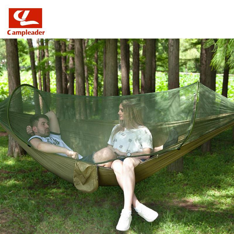 Cibinlik hamak kamp anti-sivrisinek hamak çadır ile açık naylon paraşüt bezi tam otomatik hızlı açılış