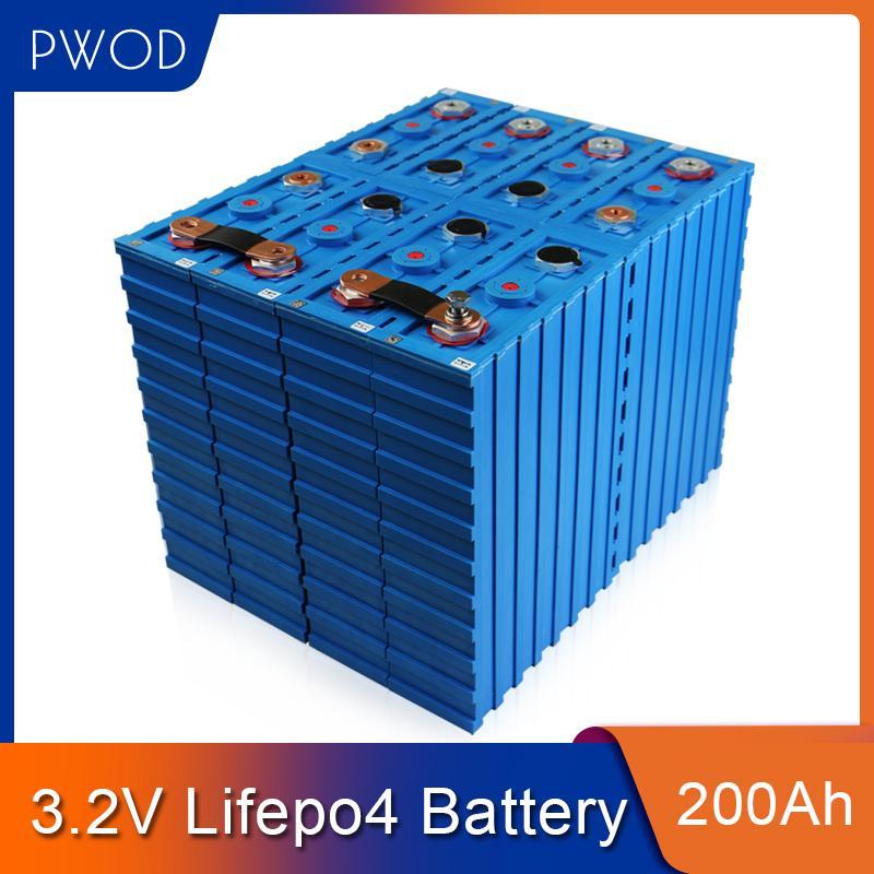 PWOD 16pcs CALB 3.2V 200AH LIFEPO4 wiederaufladbare Batterie 48V200AH 24V400AH Lithium Eisen Phosphat Packs Solarzelle EU US steuerfrei