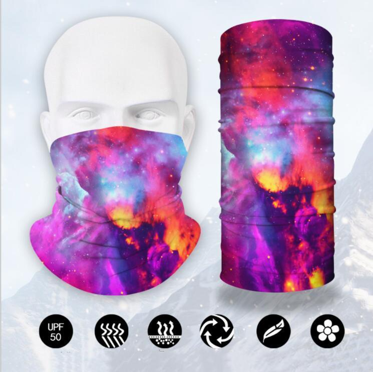 Foulard magique Bandeau Festive 3D Sunreen Anti-poussière Masques d'impression Masque multi-fonctionnel pour hommes et femmes Masque Polyester équitation DHD114