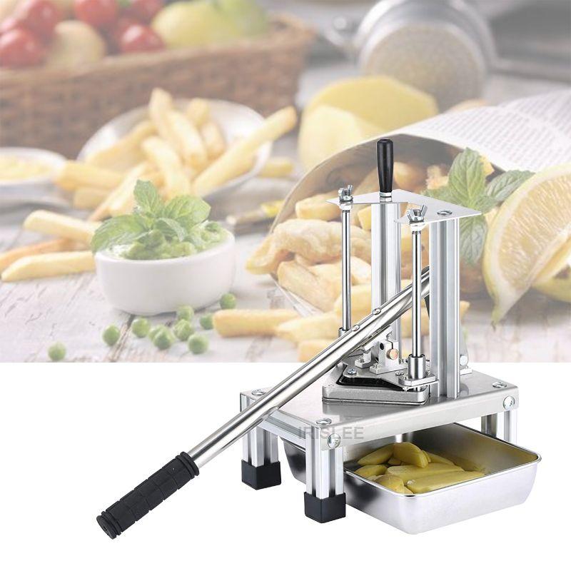 Makine Patates Chip Dilimleyiciler ile 3 Bıçaklar Sebze Meyve Dilimleme Kesici Mutfak Cutting Tools Dikey Manuel Patates Kızartması