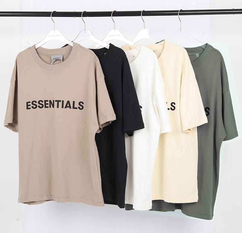 20ss ins 온천 여름 힙합 홉 프런트 필수품 3D 실리콘 티 스케이트 보드 tshirt 안개 남자 여자 짧은 소매 캐주얼 티셔츠