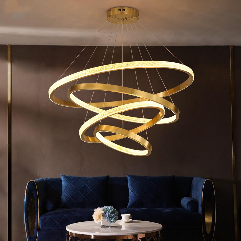 LED Nordic plafond d'or moderne Minimaliste lampe Chambre Plafonnier personnalisé Salon Lumières Chambre Fixture Lampe de plafond
