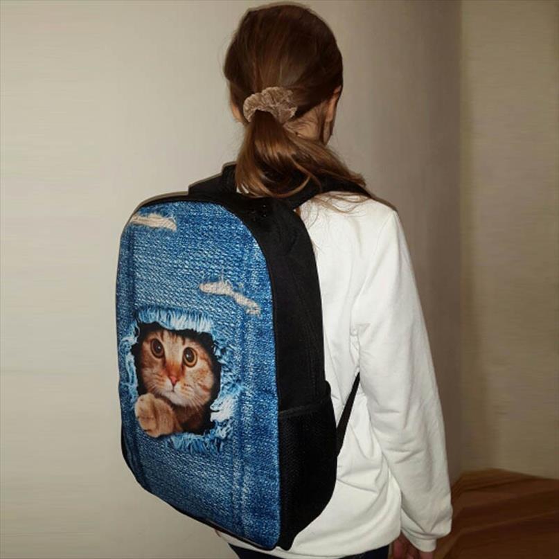 THIKIN Серый мопса Печать Школа сумка Симпатичные Primary Мальчики Животные ранцы Опрятный Стиль ребенка Учиться в России для детей Настраиваемый