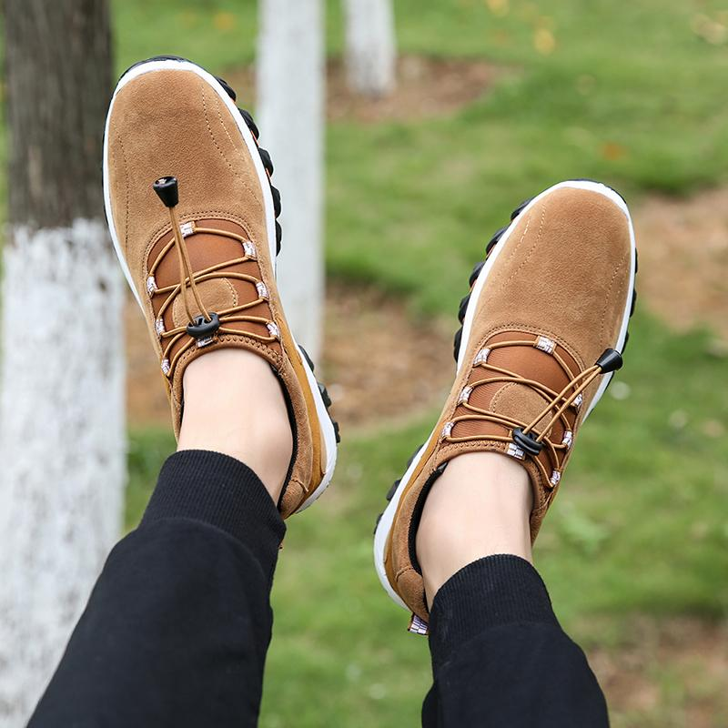 Erkekler Doğa Sporları Yürüyüş Nefes Dağcılık Ayakkabı Trekking Sneakers Klasik Casual Boots Çift Hediye Ayakkabı