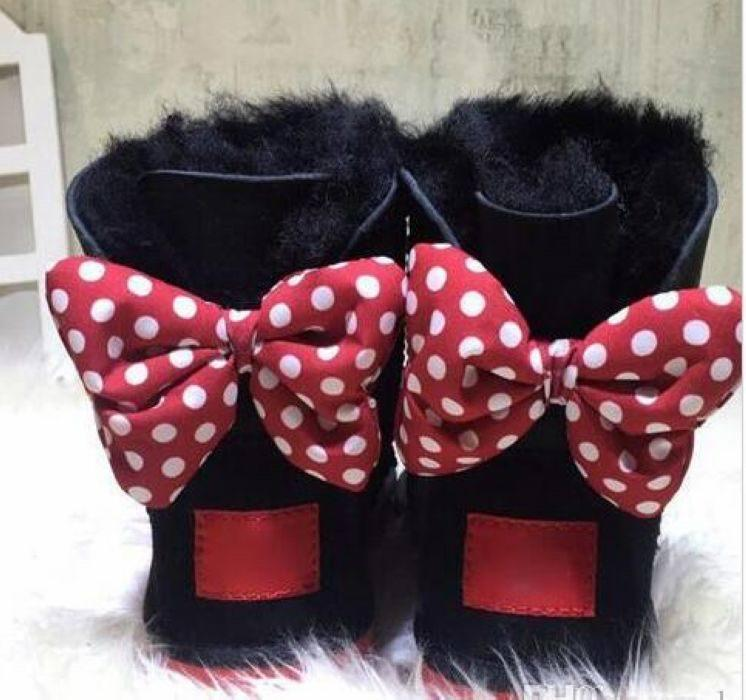 2020 NWE كلاسيكي أحذية الاطفال تصميم WOMEN 4 ألوان الأزياء رضيع فتاة القوس التعادل حذاء الثلوج الفراء إبقاء متكاملة الأحذية الدافئة حجم 23-44