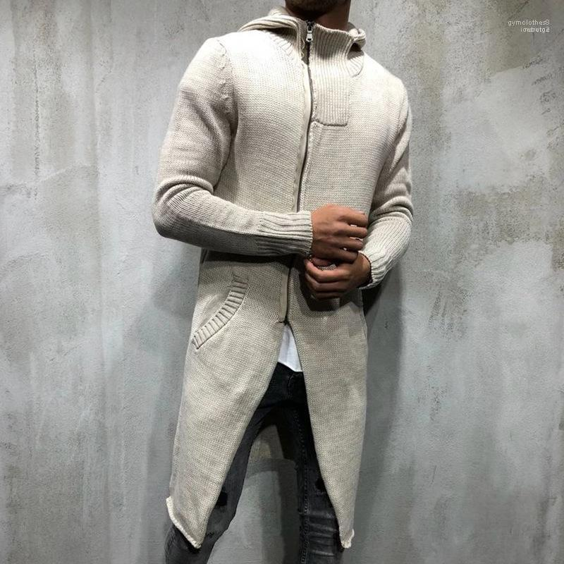 Hommes Designer longues Pull à capuche Sweat Cardigan Casual solide