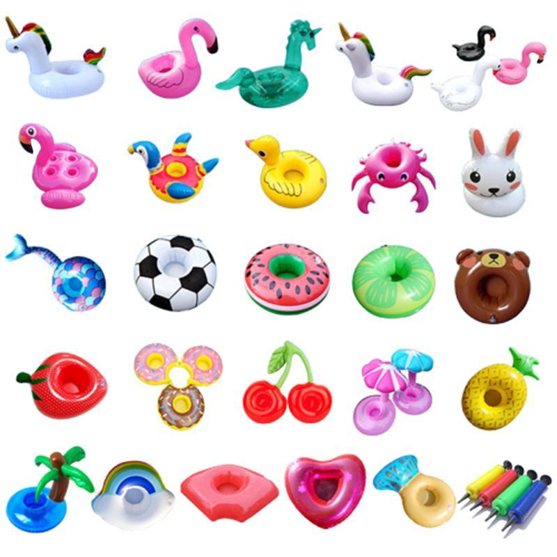 Air colchões para a Copa inflável Flamingo Bebidas Cup Titular Piscina flutua Bar Coasters Floatation Toy rosa Devices Titular Drink